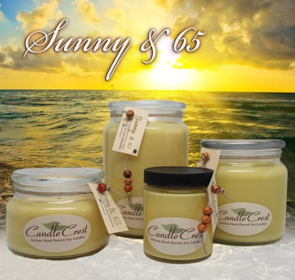 Good Morning Sunshine - Sunny & 65 - Soy Candles by Candle Crest Soy Candles
