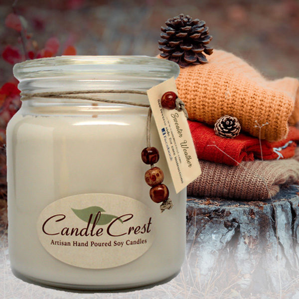 Fall Candles - Sweater Weather Soy Candles by Candle Crest Soy Candles Inc