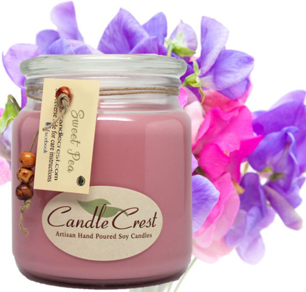 Sweet Pea Scented Soy Candles by Candle Crest