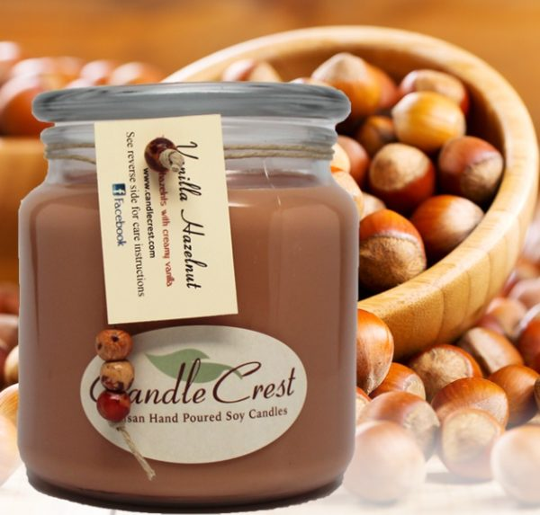 Vanilla Hazelnut Scented Candles by Candle Crest Soy Candles Inc