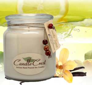 Vanilla Lemon Scented Candles by Candle Crest Soy Candles Inc
