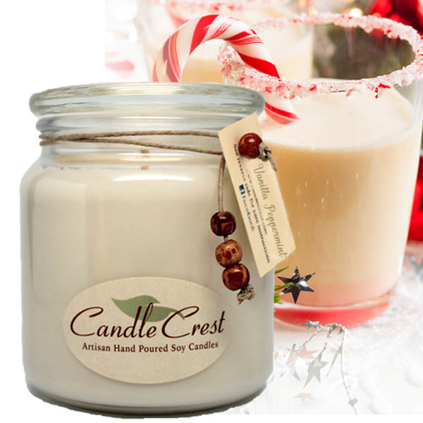 Peppermint Soy Candle Handmade by JaSi Products