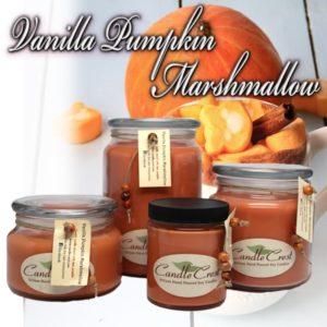 Fall Candles - Vanilla Pumpkin Marshmallow Soy Candles by Candle Crest Soy Candles Inc