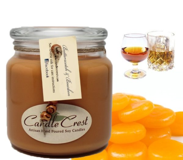 Butterscotch & Bourbon Scented Candles by Candle Crest Soy Candles Inc