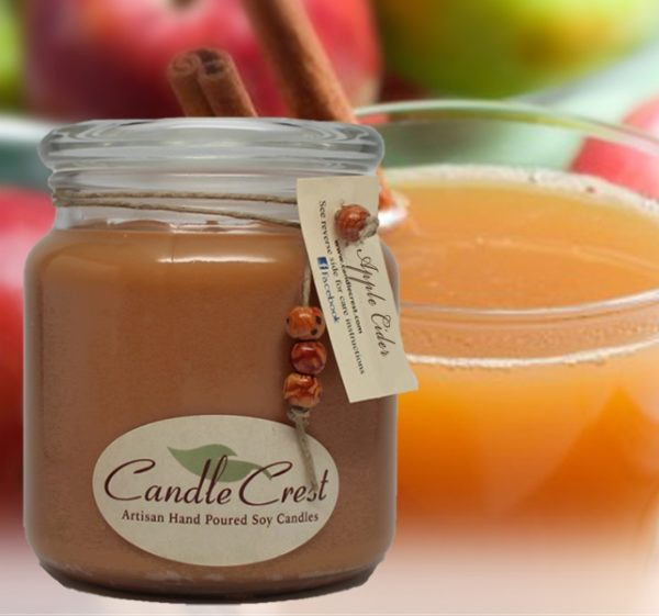 Apple Cider Scented Soy Candles by Candle Crest Soy Candles Inc
