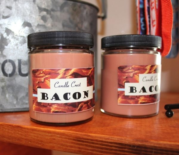 Bacon Scented Candles by Candle Crest