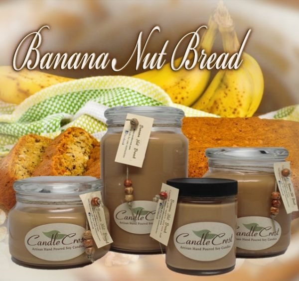 Banana Nut Bread Scented Candles by Candle Crest Soy Candles Inc