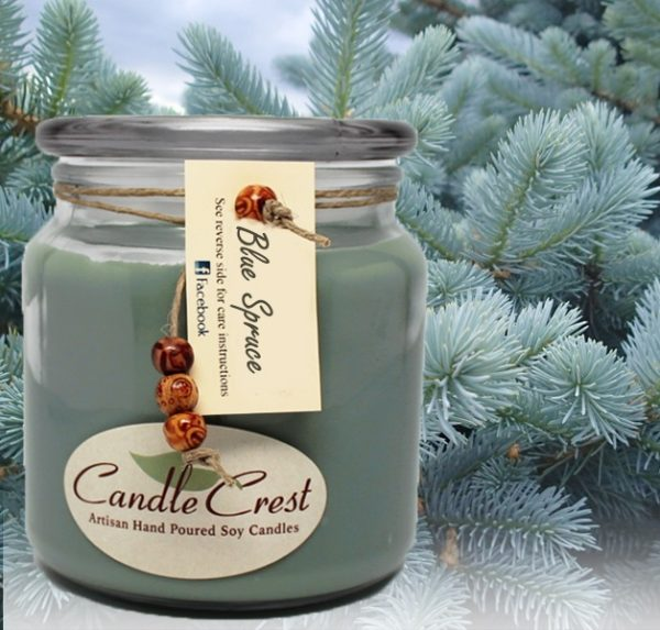 Blue Spruce Candles by Candle Crest Soy Candles Inc