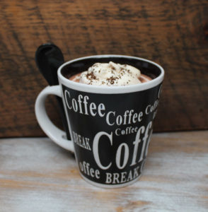 Coffee Lovers Gift - Coffee Cup Candles by Candle Crest - Black Cup