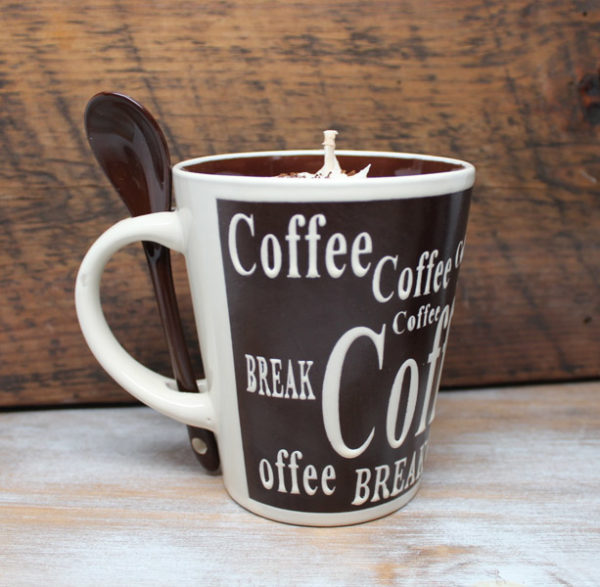 Coffee Lovers Gift - Coffee Cup Candles by Candle Crest - Brown Cup