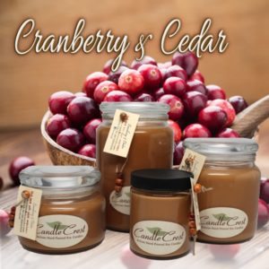 Cranberry & Cedar Fall Soy Candles by Candle Crest Soy Candles Inc