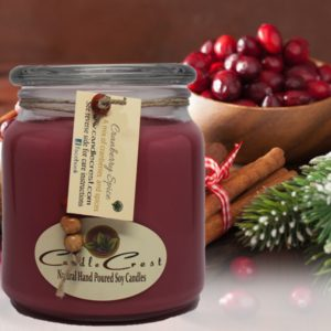 Cranberry Spice Scented Soy Candles by Candle Crest Soy Candles Inc