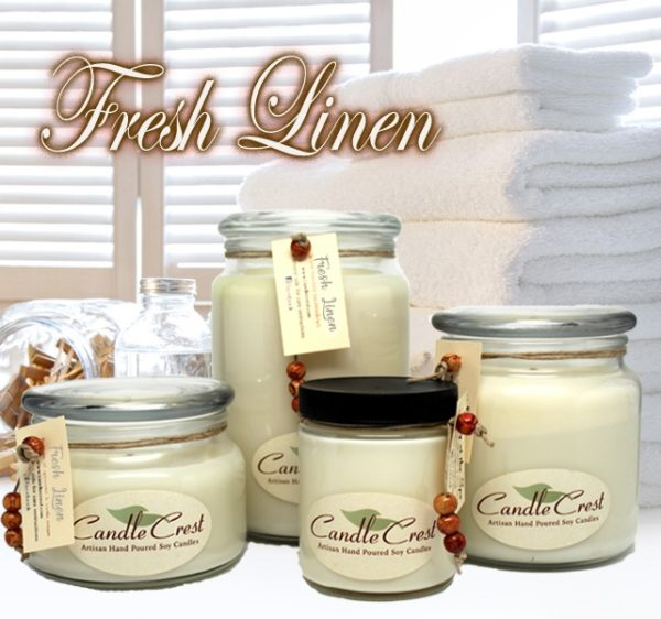Fresh Linen Scented Soy Candles by Candle Crest Soy Candles Inc