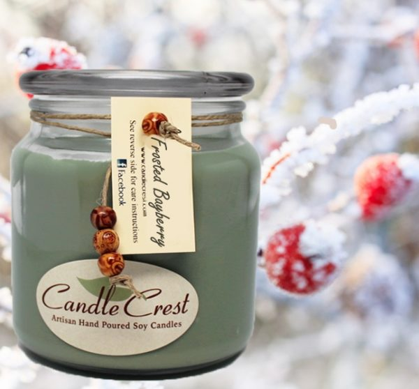 Frosted Bayberry Scented Soy Candles by Candle Crest Soy Candles Inc