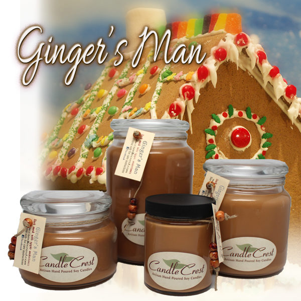 Gingers Man Soy Candles by Candle Crest Soy Candles Inc