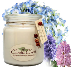 Hydrangea & Hyacinth Scented Soy Candles by Candle Crest Soy Candles Inc