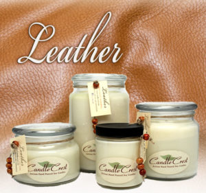 Leather Scented Soy Candles by Candle Crest Soy Candles Inc