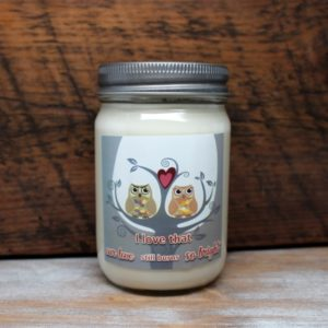 Owl Love Birds Candles by Candle Crest Soy Candles