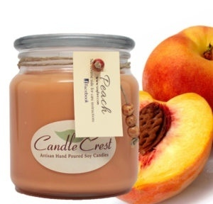 Peach Scented Soy Candles by Candle Crest Soy Candles Inc