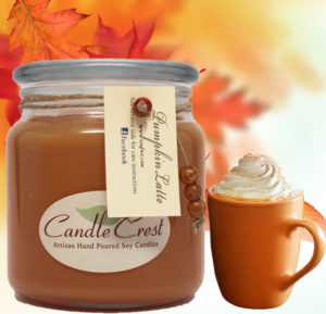 Pumpkin Scented Latte Soy Candles by Candle Crest Soy Candles Inc