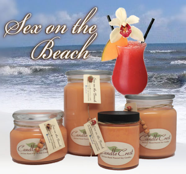 Sex on the Beach Soy Candles by Candle Crest Soy Candles Inc