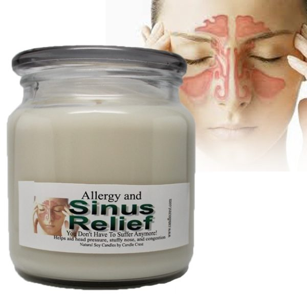 Sinus Issues? No Problem! Sinus and Allergy Relief Soy Candles by Candle Crest