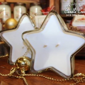 Holiday Candles - Vanilla Peppermint Star Candles by Candle Crest