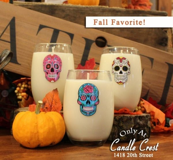 Sugar Skull Candles - Day of the Dead Candles