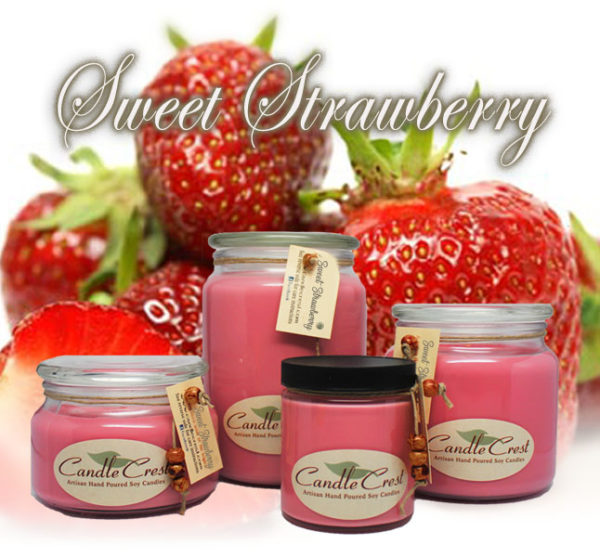 Strawberry Scented Soy Candles by Candle Crest Soy Candles Inc