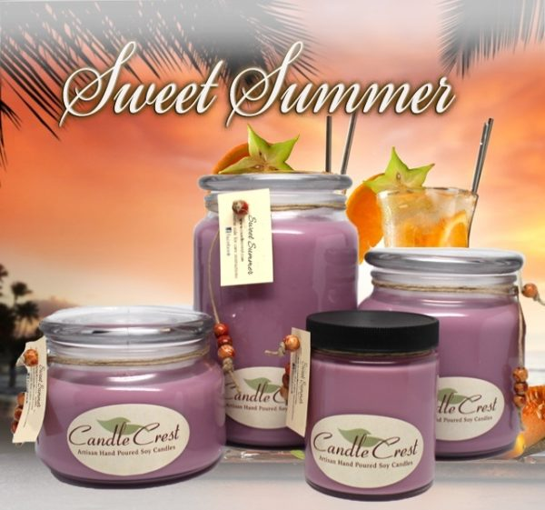 Sweet Summer Scented Soy Candles by Candle Crest Soy Candles Inc