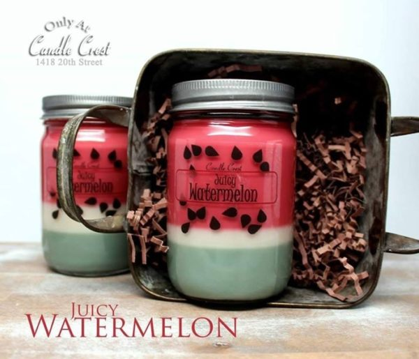Watermelon Scented Soy Candles by Candle Crest Soy Candles Inc