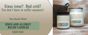 Sinus & Allergy Relief Soy Candles