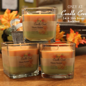 Fall Soy Candles - Three Scented Fall Candles by Candle Crest