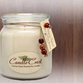 Mahogany Teakwood Scented Soy Candles by Candle Crest
