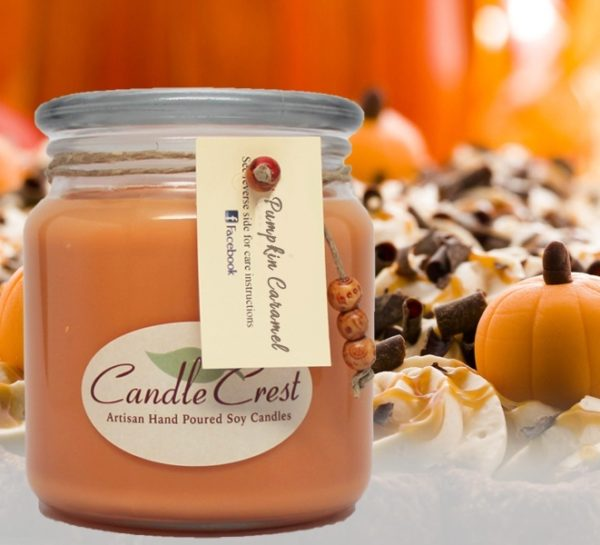 Pumpkin Caramel Scented Soy Candles by Candle Crest
