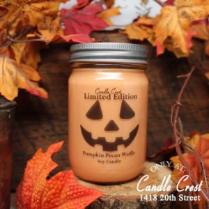 Fall Candles - Pumpkin Face Candle by Candle Crest