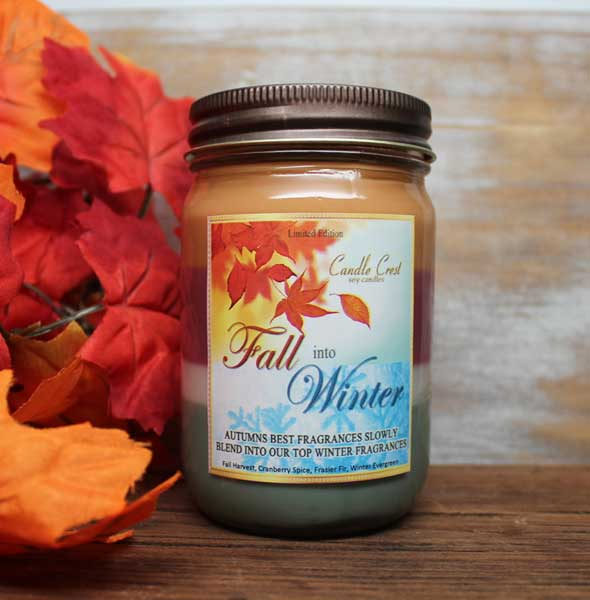 Fall into Winter - Four Scented Soy Candle by Candle Crest