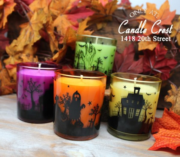 Colorful Halloween Fall Candles by Candle Crest