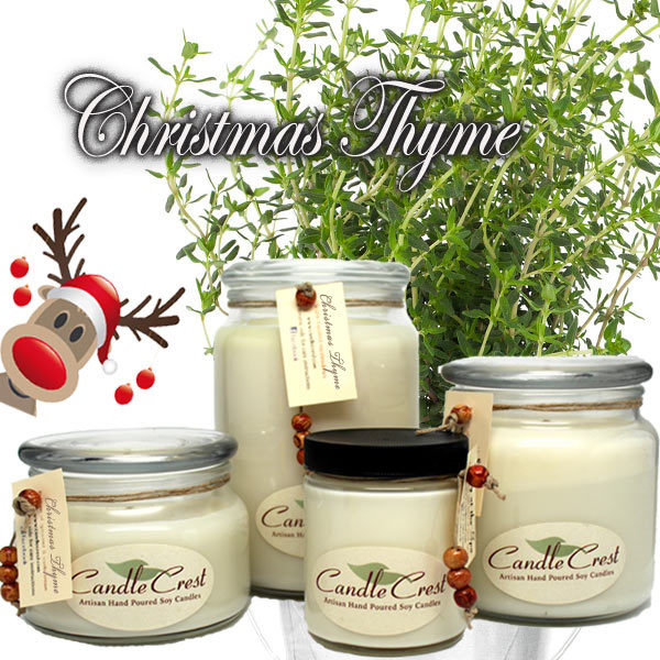 Christmas Thyme Soy Candles by Candle Crest Soy Candles