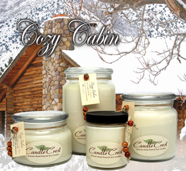 Cozy Cabin Scented Candles by Candle Crest Soy Candles