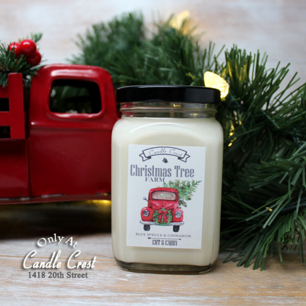 Vintage Red Truck Holiday Candle by Candle Crest