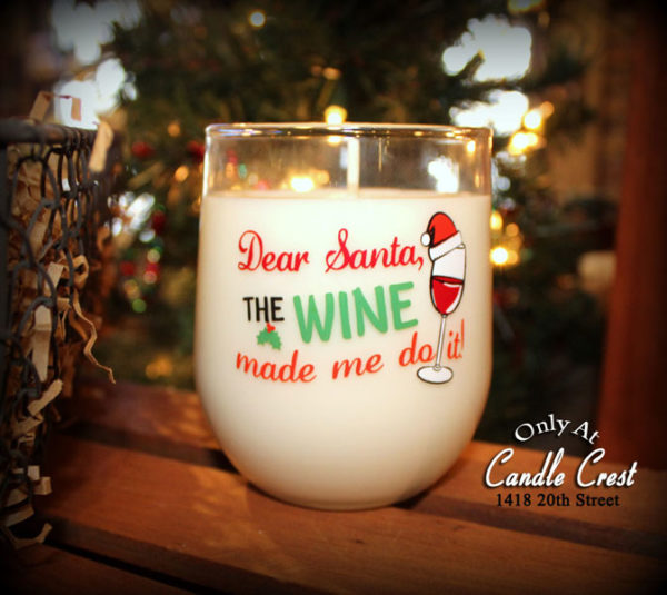 Dear Santa Candles - Wine Candles by Candle Crest Soy Candles