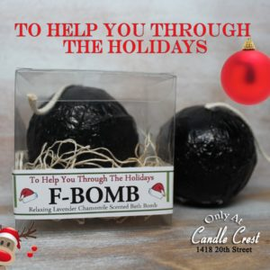 Bath Bomb Gifts - Holiday Bath Bomb - F-BOMB by Judakins Bath & Body