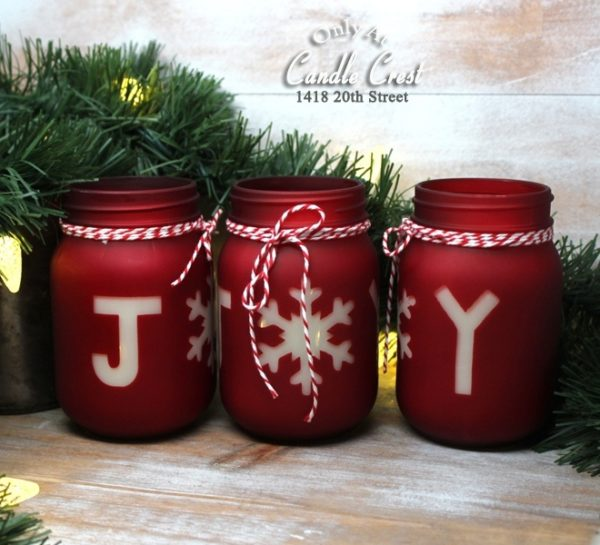 Holiday Candles - Joy Jar Candles from Candle Crest