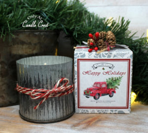 Holiday Metal Tin Candles by Candle Crest