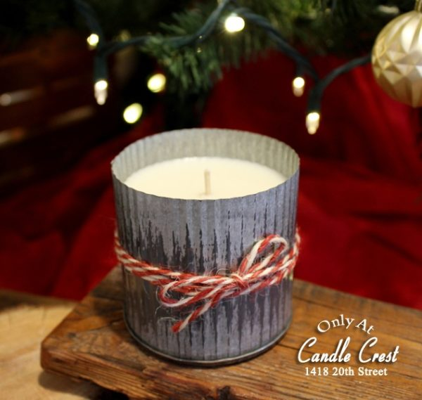 Holiday Metal Tin Candles by Candle Crest Soy Candles