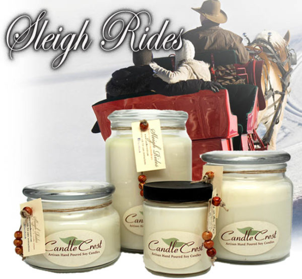 Sleigh Rides - Scented Holiday Soy Candles by Candle Crest Soy Candles Inc