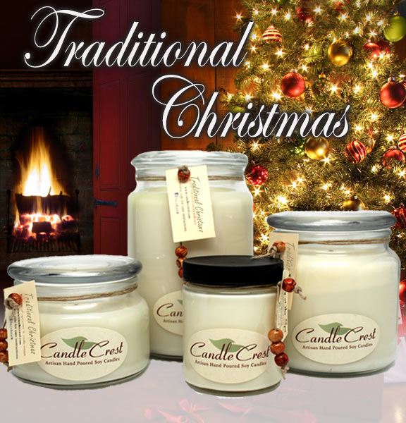 Traditional Christmas Candles - Holiday Candles by Candle Crest Soy Candles Inc