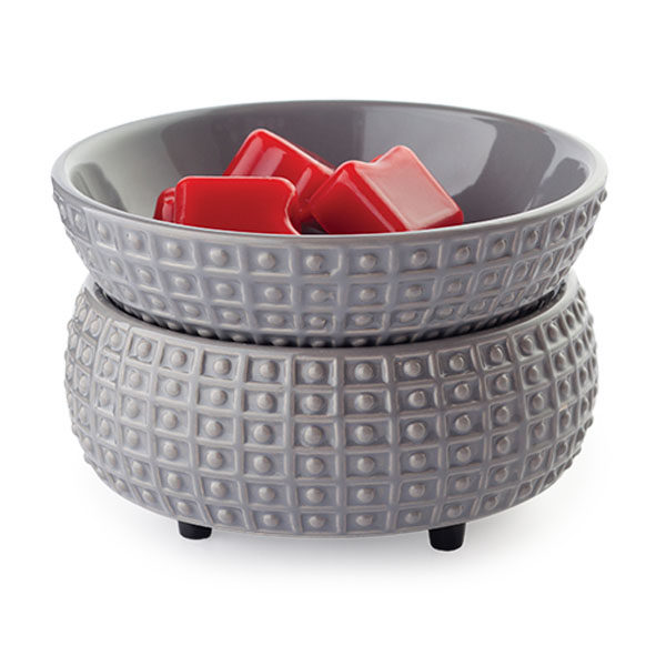 2 in 1 Candle & Tart Warmer - Grey Slate - Candle Crest Soy Candles Inc
