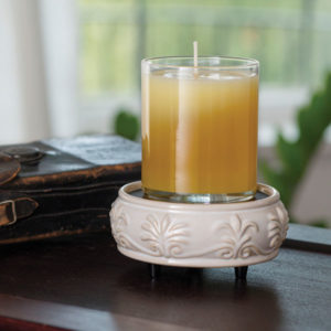 2 in 1 Candle & Tart Warmer - Sandstone Candle Crest Soy Candles Inc